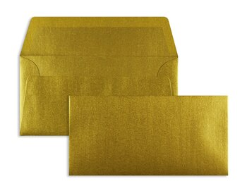 Farbige Kuverts - Gold ~110 x 220 mm (DIN Lang) | 100...
