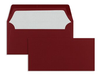 Farbige Kuverts - Rot (Rosso)~110 x 220 mm (DIN Lang) |...