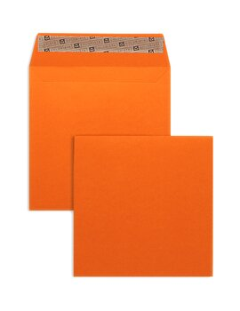 Farbige Kuverts - Orange ~160 x 160 mm | 130 g/qm...