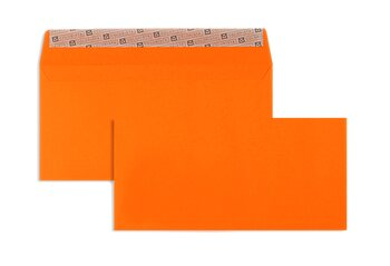 Farbige Kuverts - Orange ~114 x 229 mm (DIN C6/5) | 130...