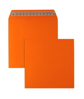 Farbige Kuverts - Orange ~220 x 220 mm | 130 g/qm...