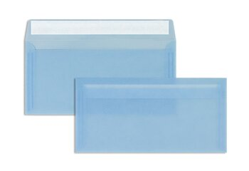 Farbige Transparent-Kuverts - Blau...