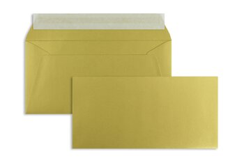 Farbige Kuverts - Gold (Glamour Gold)~110 x 220 mm (DIN...