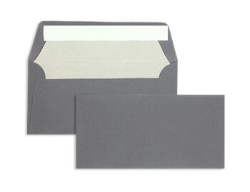 Farbige Kuverts - Grau (Schiefer)~110 x 220 mm (DIN Lang)...