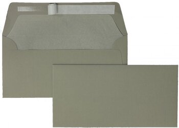 Farbige Kuverts - Grau (Taupe)~110 x 220 mm (DIN Lang) |...