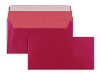 Farbige Kuverts - Rosa (Beauty Pink)~110 x 220 mm (DIN...